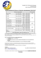 fiche renseignement hbcv 2016 2017 2