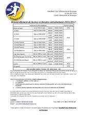 fiche renseignement hbcv 2016 2017