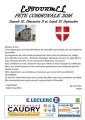 programme fete septembre 2016