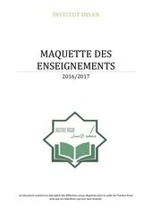 maquette enseignements 2016 2017