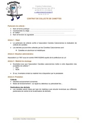 contract collecte cannettes