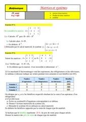 matrices et systeme