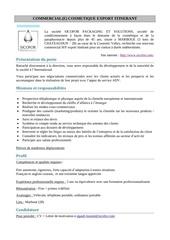 Fichier PDF fiche de poste commercial export itine rant