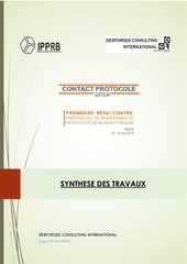 contact protocole 2016 synthese des travaux