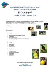 journee preparation du chien de sport