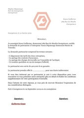 Fichier PDF lettre de partenariat tanao depannage