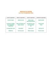 menus de la cantine 12 sept 1