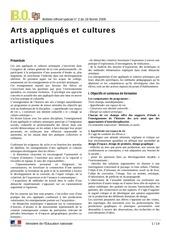 programme lycee art