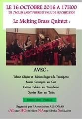 flyer concert melting brass quintet de cuivres