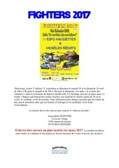 Fichier PDF dossier inscription