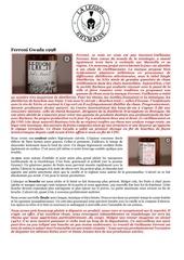 fiche de degustation ferroni gwada 1998
