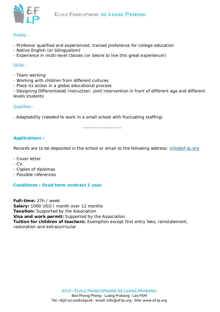 job offer english native speaker teacher eng docx
