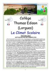 projet climat scolaire 2016
