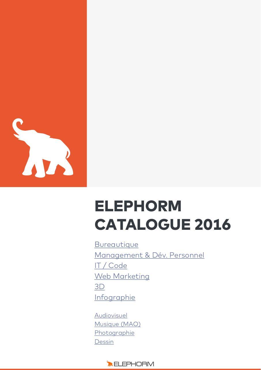Catalogue Pdf Elephorm