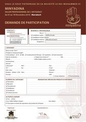 formulaire de demande de participation minyadina2016