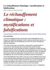 Fichier PDF rechauffement climatique mystifications falsifications