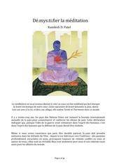 demystifier la meditation fr