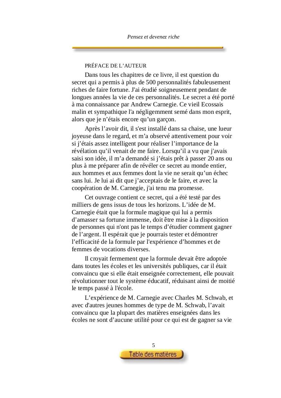 NAPOLÉON RICHE DE REFLECHISSEZ HILL TÉLÉCHARGER DEVENEZ ET