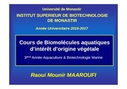 cours biomol aqua int orig veget 2016 2017