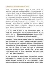 l afrique et la souverainete en peril