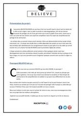 Fichier PDF believe asso