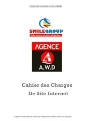 cahier des charges awd smile groupe