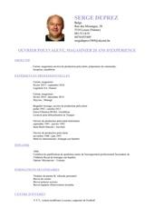 Fichier PDF cv serge