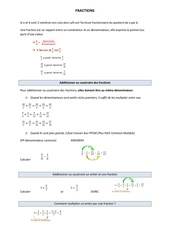 fraction cours detaille