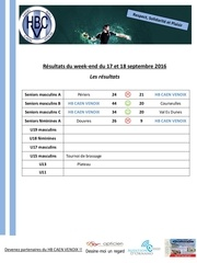 resultats matches hbcv 17 18 septembre 2016