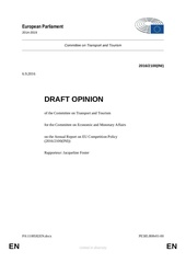 tran committee opinion on competition policy