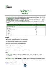 coretron poudre fr