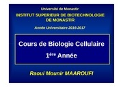 cours bio cell chap i 1ere a isbm 2016 2017