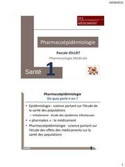 pharmacoepidemiologie p jolliet 2015 2016