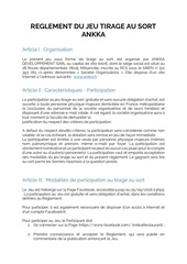 Fichier PDF reglement du jeu tirage au sort ankka