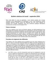 bulletin relations de travail septembre 2016