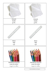crayon couleur feuilles regle