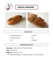 pain de campagne 400g