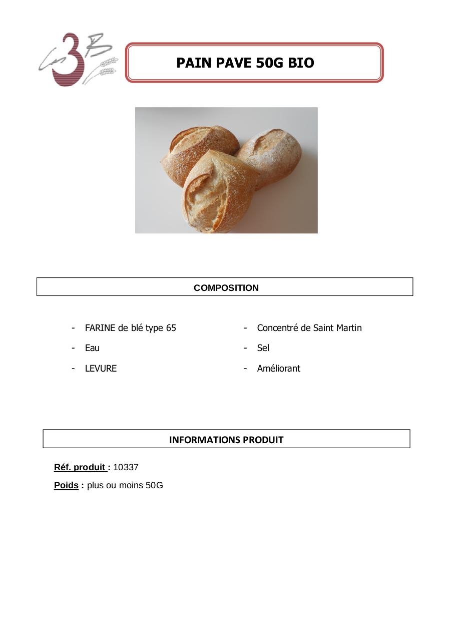 Aperçu du document PAIN PAVE 50G BIO.pdf - page 1/1
