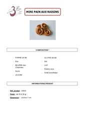 Fichier PDF pain raisins mini