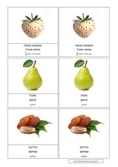 fraise ananas poire dattes