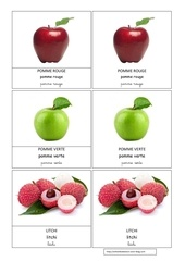 pomme rouge pomme verte litchi