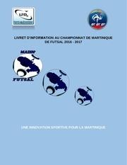 livret championnat martinique de futsal 2016 2017