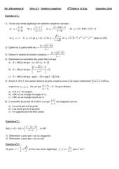 serie n 1 nombres complexes 1