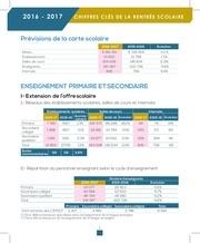 chiffres de la rentree scolaire 2016 2017fv