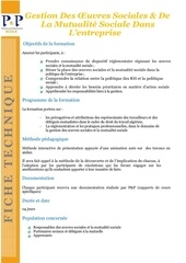 ft gestion des oeuvres sociales
