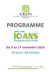 programme 10 ans du crepi normandie 3 au 17 nov 2016
