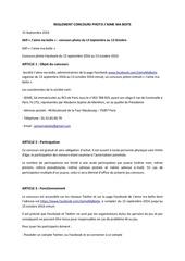 Fichier PDF reglement concours