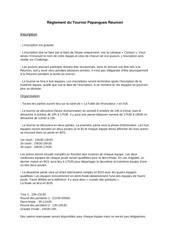 reglement du tournoi papangues reunion 3