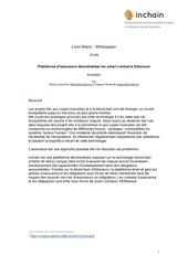 Fichier PDF whitepaper inchain en francais
