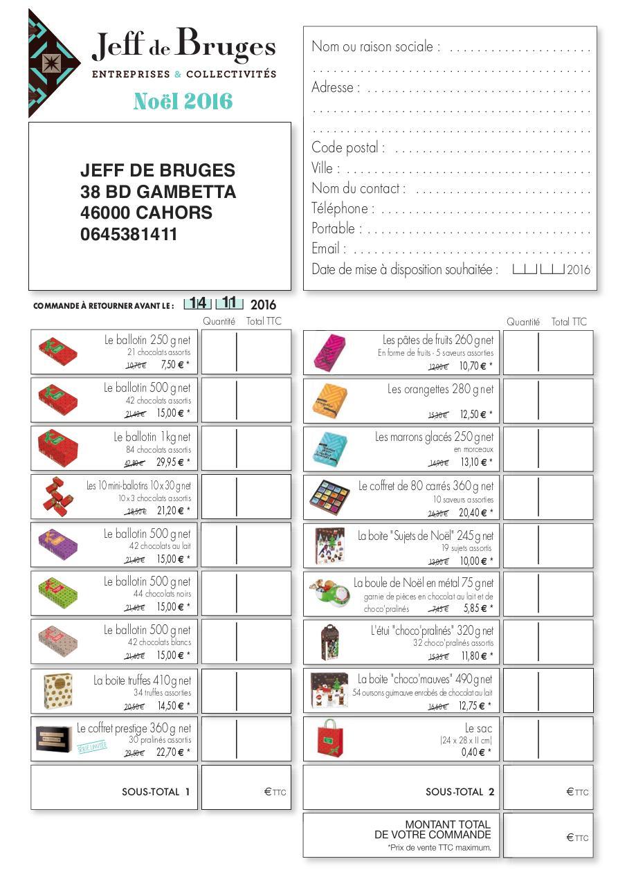 jeff de bruges noel 2018 bon de commande jdb1604 059 NOEL CE BDC   Bon de commande Jeff de Bruges Noel 2016  jeff de bruges noel 2018 bon de commande